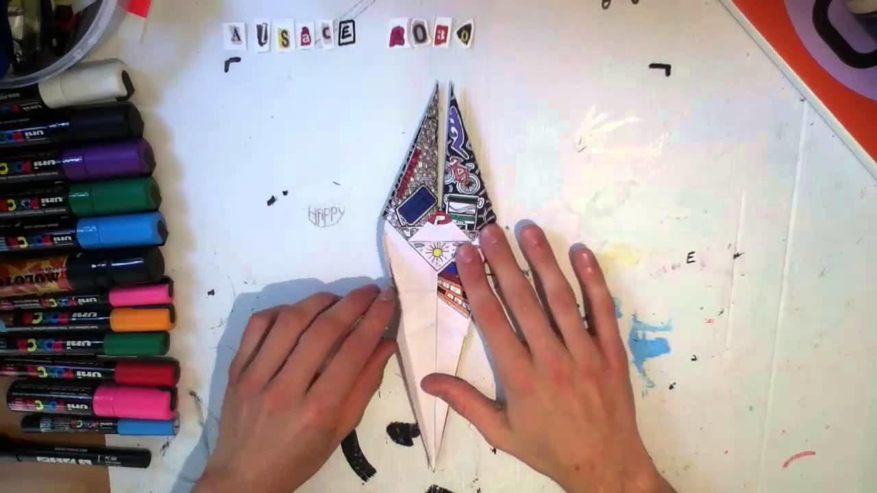 Concours imaginons l'Alsace Origami cigogne
