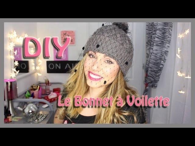 DIY : Bonnet à voilette. Veiled beanie - Super facile