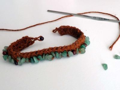 DIY - Bracelet original en crochet et en perles