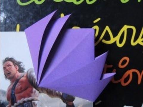[Origami] Marque Page En Forme De Lotus