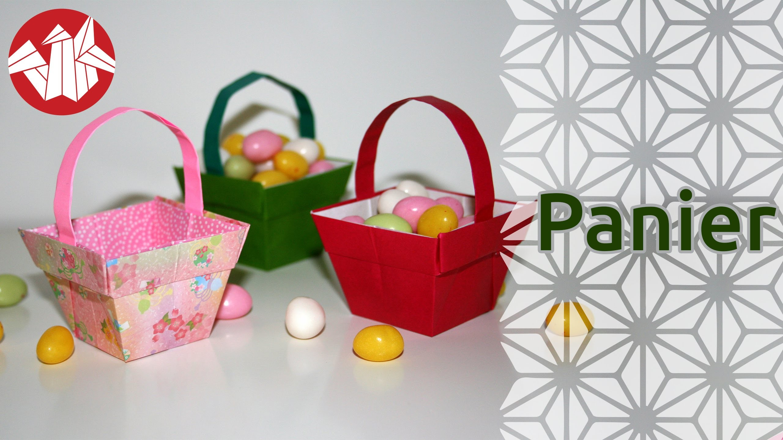 Origami - Panier - Basket (HD) [Senbazuru]