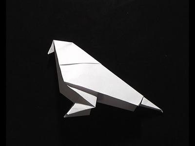 Origami pliage papier oiseau