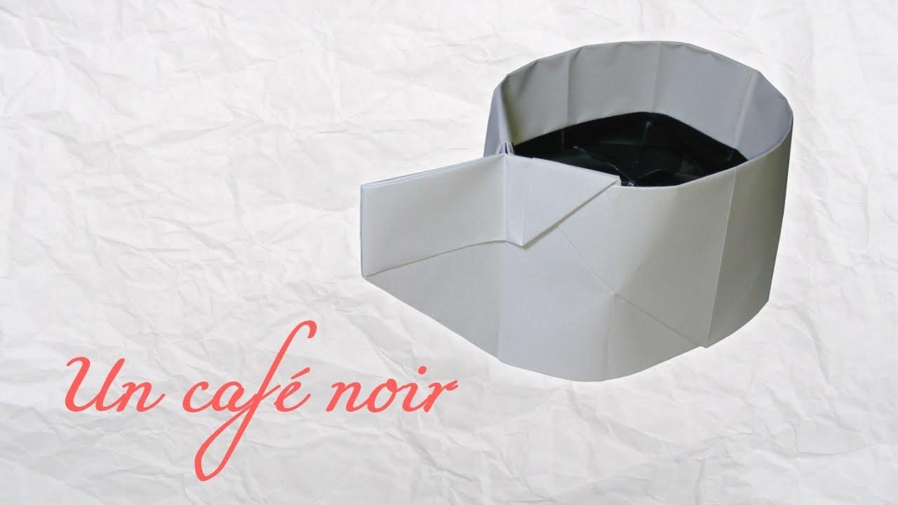 Origami ! Un café noir.