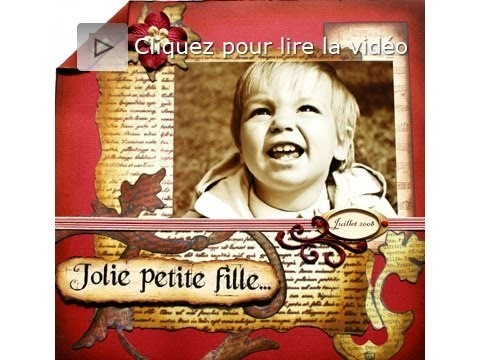 Page scrapbooking vintage tutoriel technique français
