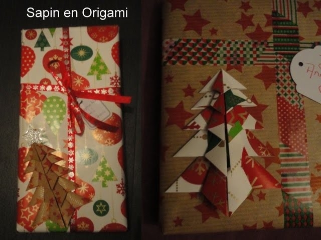 Sapin origami - origami christmas tree