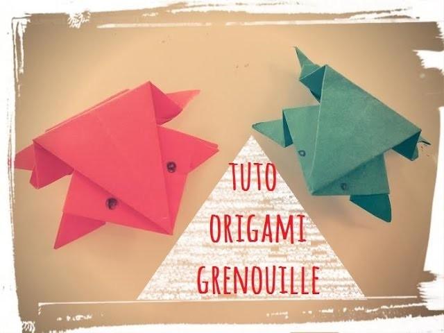 Tuto grenouille papier facile origami