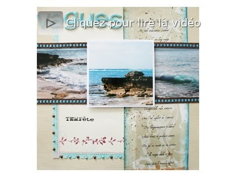 Atelier scrapbooking page panoramique tutorial technique français