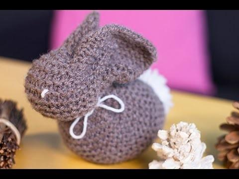 Bricolage de Pâques DIY lapin en laine : réaliser un doudou maison en tricot
