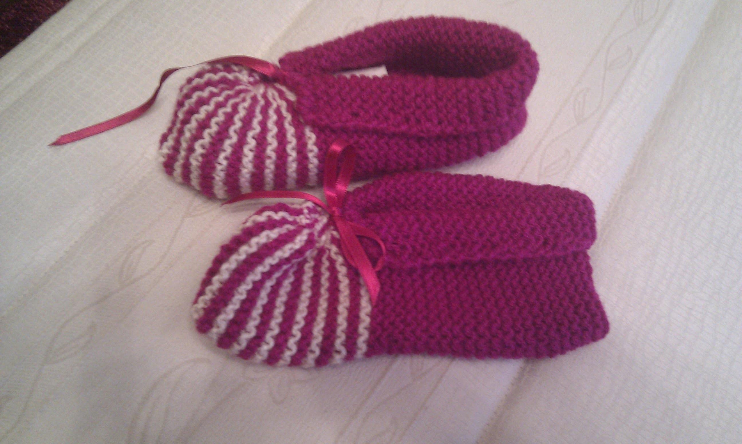 Chaussons de bébé au crochet