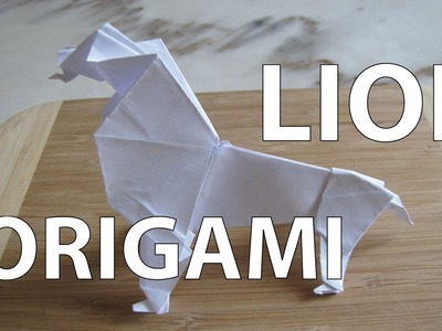 Comment faire un lion origami