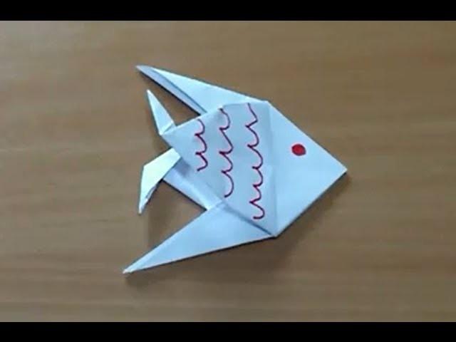 Comment faire un poisson en origami - Poisson en papier