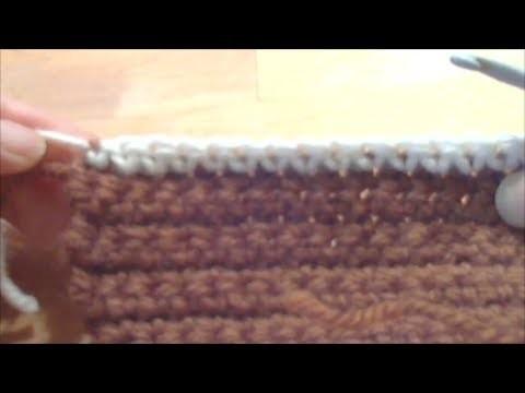 Cours de crochet N°29 - Changement de Couleur en Début de Rang