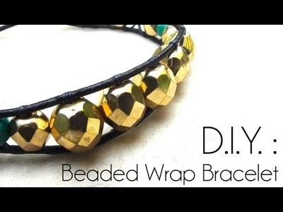 DIY : Comment faire un Bracelet tressé ? DIY Wrap beaded Bracelet