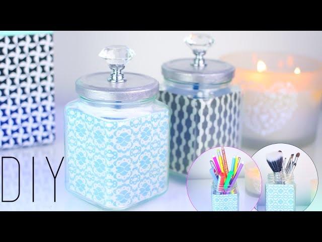 """DIY - """"FACILE"""" : RECYCLER VOS BOCAUX POUR UNE DECO TENDANCE - personalized mason jar (english subs)"""