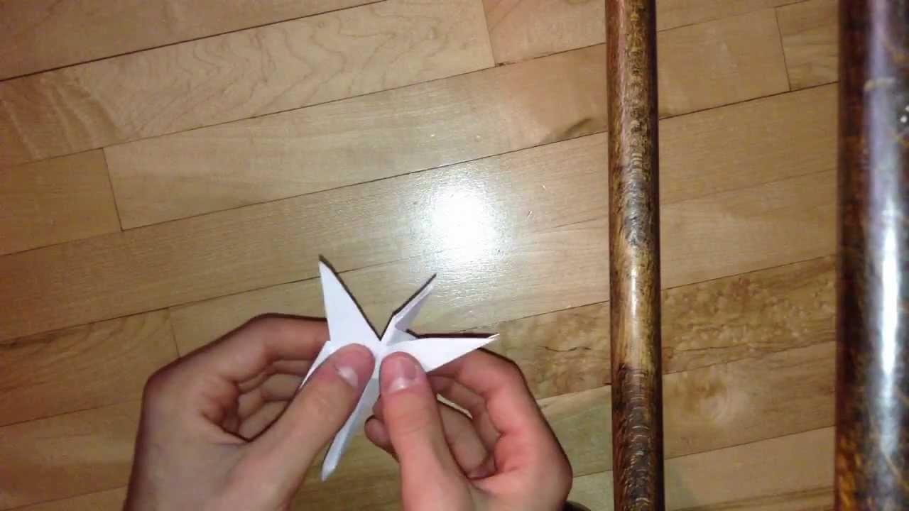 Faire une libellule en origami - Fabriquer insecte papier