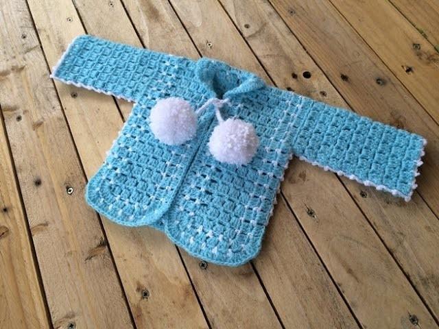 Gilet  bébé crochet : partie 1