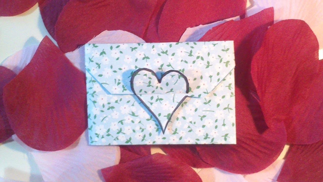 HD. TUTO: Faire une enveloppe coeur en origami - Make an origami heart envelope