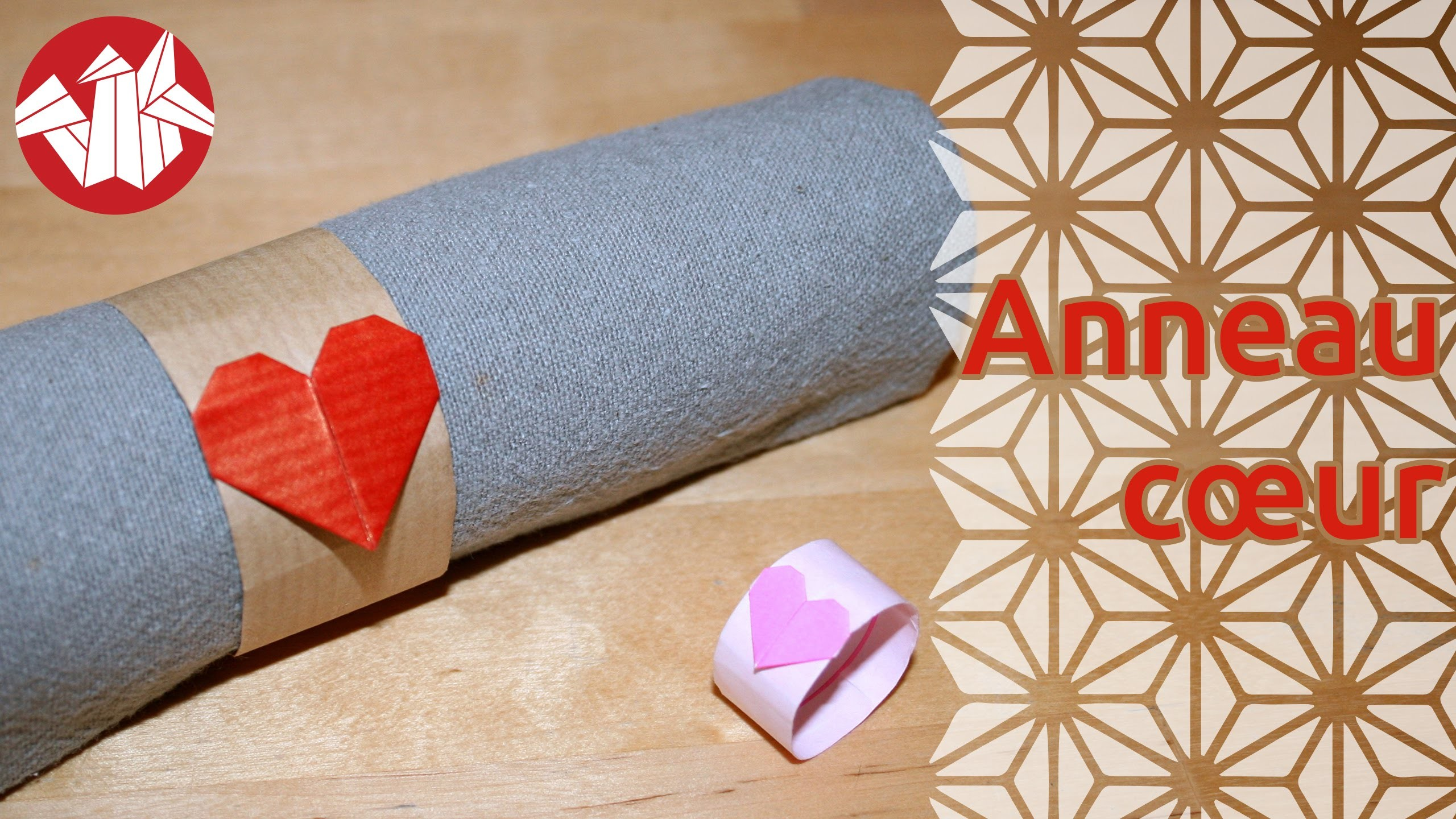 Origami - Anneau coeur - Heart Ring [Senbazuru]