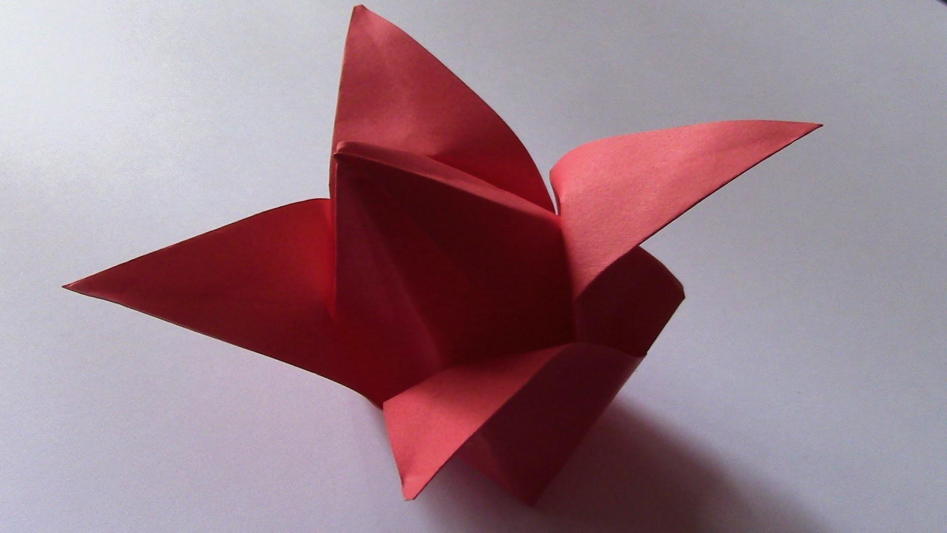 Origami-La tulipe