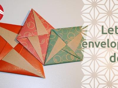 Origami - Lettre-enveloppe déco de Tomoko Fuse [Senbazuru]