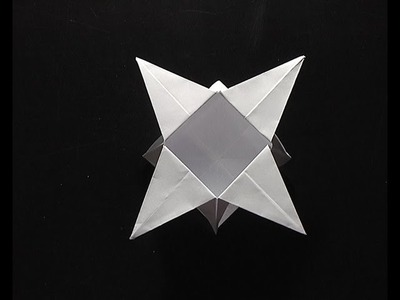 Origami pliage boite étoile