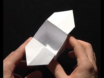 Origami pliage papier boite ailée