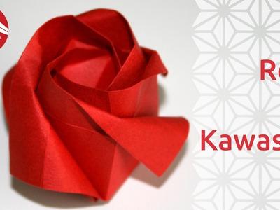 Origami - Rose de Toshikazu Kawasaki [Senbazuru]