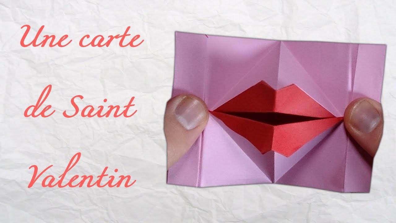 Origami ! Une carte de Saint Valentin animé.