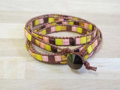 Perles & Co - DIY Bracelet Wrap en Tila Beads