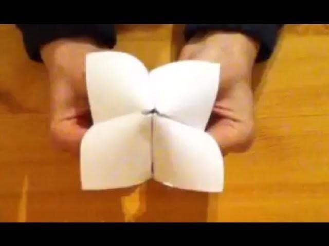 Réaliser une cocotte en papier - Faire un jeu en origami