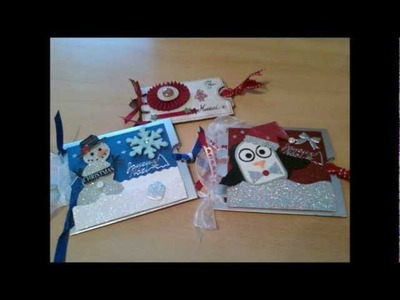 Scrapbooking : Cartes de Noël. Christmas cards