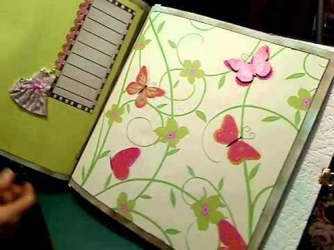 """Scrapbooking gratuit: cadeau  """"Que pour les filles"""" partie n°2 avec scrapaganza.fr"""
