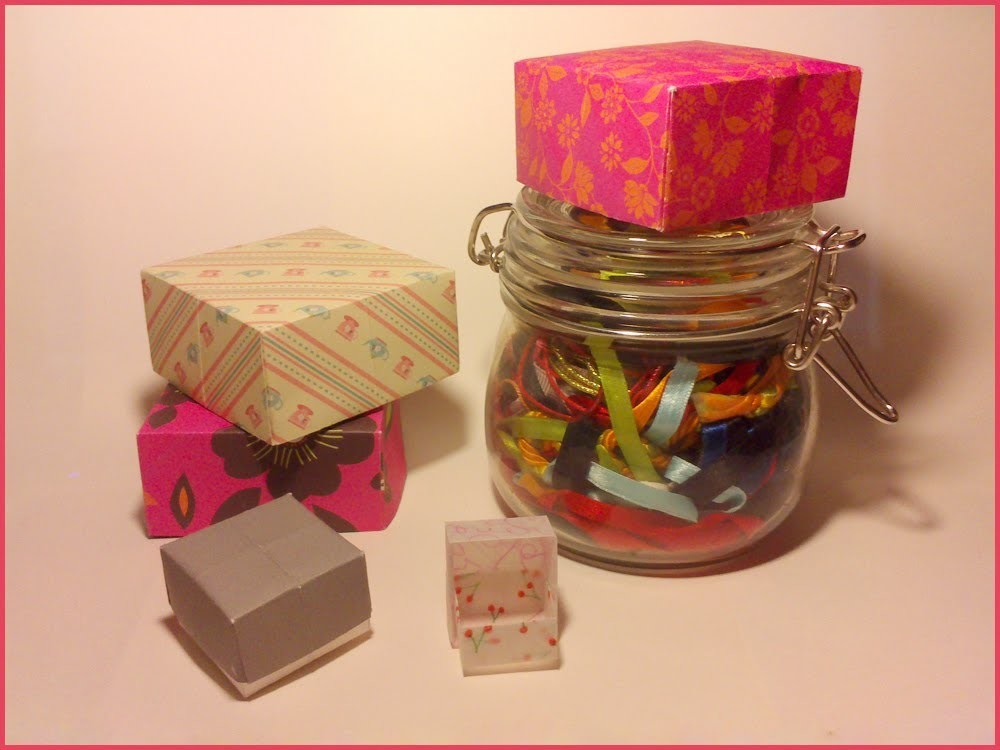 TUTO: Faire une boîte en papier Origami. Tutorial