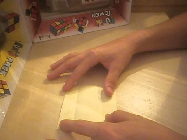 TUTO: un support pour Rubik's cube - Origami