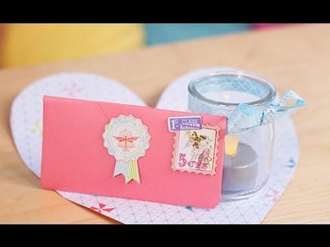 Bricolage Fête des mères : Pliage d'une enveloppe en forme de coeur - Origami