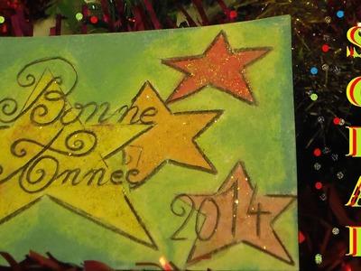 Carte de voeux bonne année en scrapbooking à fabriquer avec les enfants