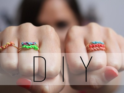 DIY : Bague en macramé. Macramé Rings Friendship Rings (English subs)