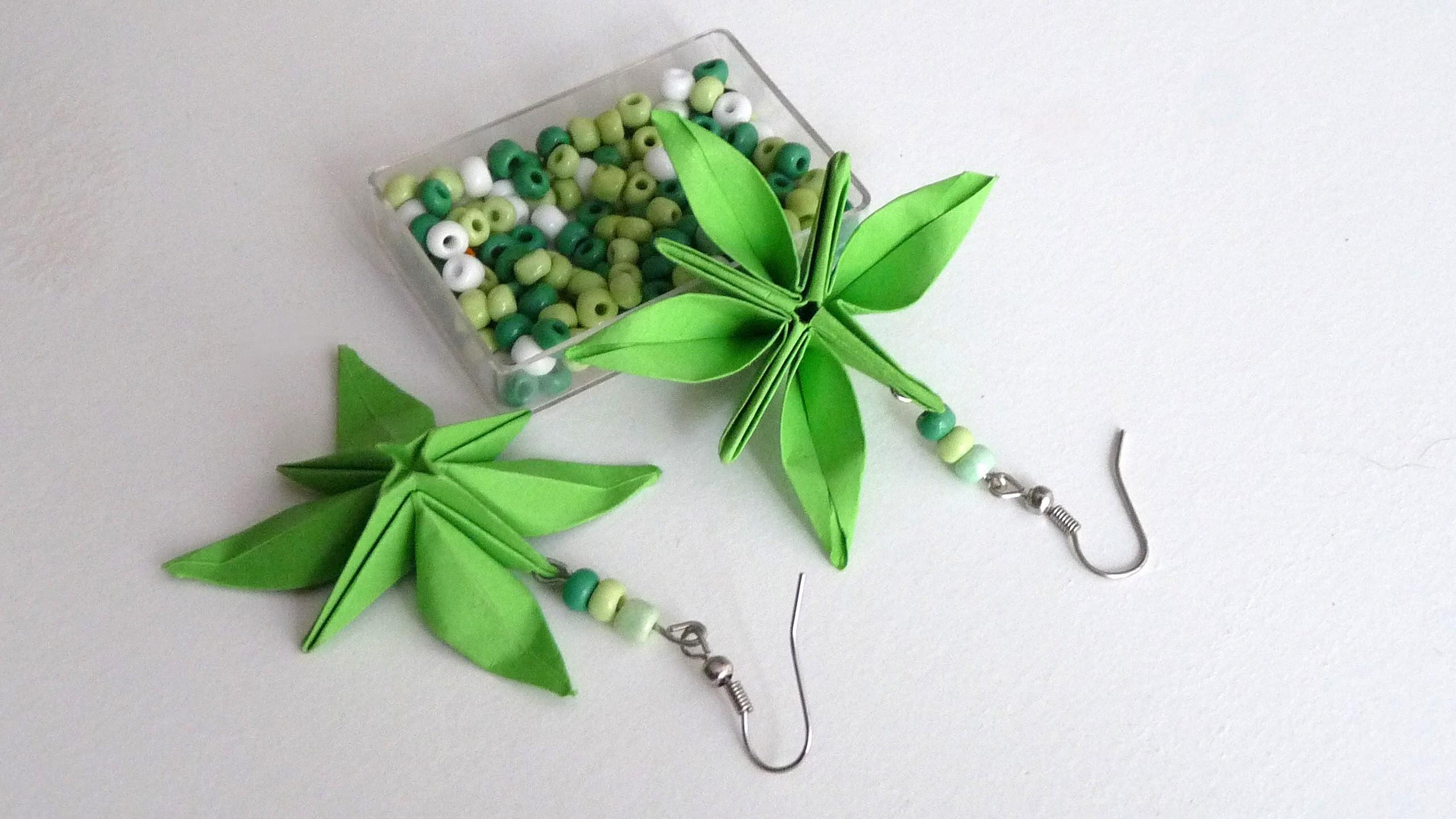 DIY - Boucles d'oreilles fleurs en origami