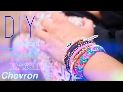 DIY : BRACELET BRESILIEN AVEC PERLES - BEADED FRIENDSHIP BRACELET CHEVRON (english subs)