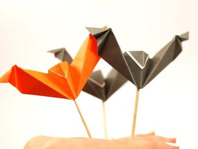 DIY Halloween - Origami Chauve Souris - Pique apero by Fraises au sucre