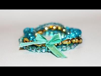 DIY # TUTO Bracelets de perles montés en manchette - Idée de cadeau de Noël