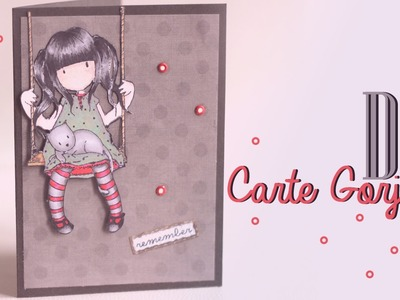 DIY # TUTO Carte Gorjuss - Colo aux Promarkers. Scrapbooking