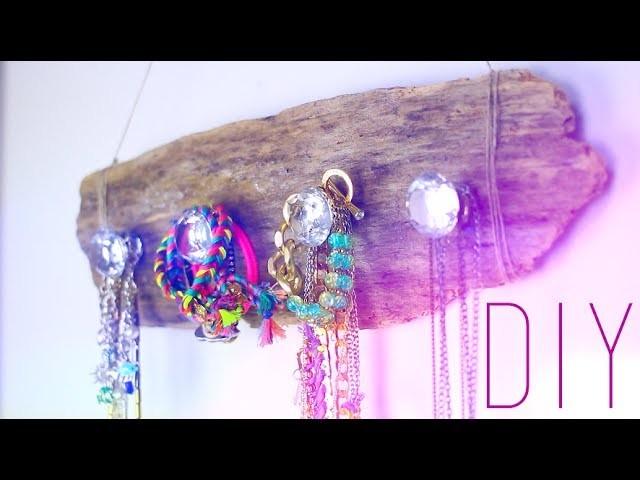 DIY - TUTO : PORTE BRACELETS. COLLIERS. BIJOUX HIPPIE _ Necklace bracelet holder (english subs)