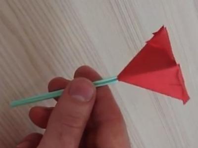 Faire une fleur en papier - Origami fleur avec tige