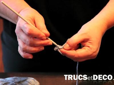 Maille coulée en crochet - Tutoriel par trucsetdeco.com