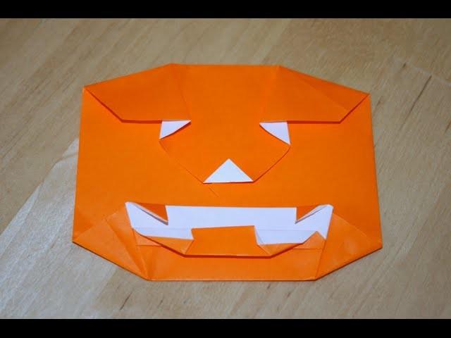 Origami - Citrouille Jack O' Lantern - Jack O' Lantern Pumpkin [Senbazuru]