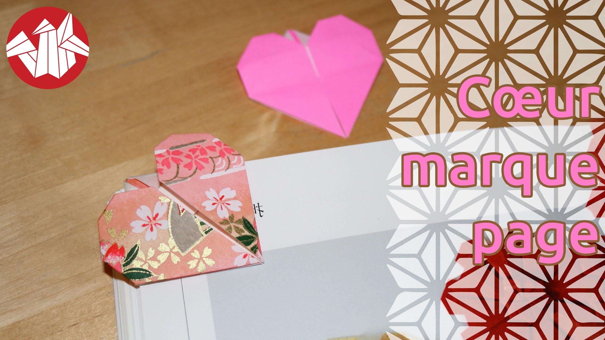 Origami - Coeur marque-page - Heart Bookmark [Senbazuru]