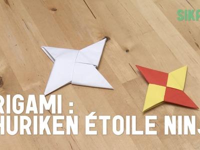 Origami : Faire une étoile ninja (shuriken) en papier - HD