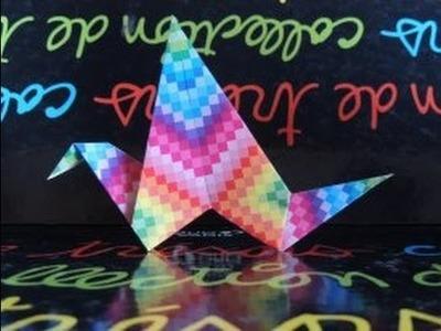 [Origami] L'Oiseau Qui Bat Des Ailes !