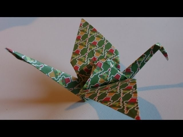Origami ! La Grue Traditionelle.